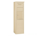 Salsbury Industries 3909S-1CSF Free-Standing 4C Horizontal Collection Box (Includes 3709S-1CSF and 3909S-SAN Enclosure) - 9 Door High Unit (62-1/4 Inches) - Single Column - Sandstone - Front Access