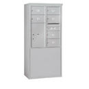 Salsbury Industries 3910D-06AFP Free-Standing 4C Horizontal Mailbox Unit - 10 Door High Unit (65-3/4 Inches) - Double Column - 6 MB2 Doors / 1 PL6 - Aluminum - Front Loading - Private Access
