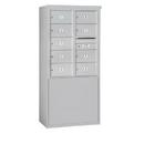 Salsbury Industries 3910D-09AFU Free-Standing 4C Horizontal Mailbox Unit - 10 Door High Unit (65-3/4 Inches) - Double Column - 9 MB2 Doors - Aluminum - Front Loading - USPS Access