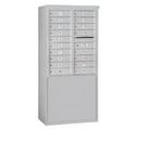 Salsbury Industries 3910D-18AFU Free-Standing 4C Horizontal Mailbox Unit - 10 Door High Unit (65-3/4 Inches) - Double Column - 18 MB1 Doors - Aluminum - Front Loading - USPS Access