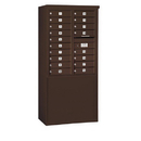 Salsbury Industries 3910D-18ZFP Free-Standing 4C Horizontal Mailbox Unit - 10 Door High Unit (65-3/4 Inches) - Double Column - 18 MB1 Doors - Bronze - Front Loading - Private Access