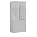 Salsbury Industries 3910D-4PAFP Free-Standing 4C Horizontal Mailbox Unit-10 Door High Unit (65-3/4 Inches)-Double Column-Stand-Alone Parcel Locker-4 PL5's-Aluminum-Front Loading-Private A