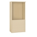 Salsbury Industries 3910D-SAN Free-Standing Enclosure - for 3710 Double Column Unit - Sandstone