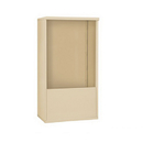 Salsbury Industries 3910DX-SAN Free-Standing Enclosure ADA Height Compliant Unit - for 3710 Double Column - Sandstone