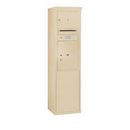 Salsbury Industries 3910S-01SFP Free-Standing 4C Horizontal Mailbox Unit - 10 Door High Unit (65-3/4 Inches) - Single Column - 1 MB3 Door / 1 PL5 - Sandstone - Front Loading - Private Access