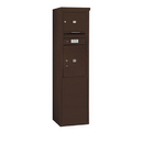 Salsbury Industries 3910S-01ZFP Free-Standing 4C Horizontal Mailbox Unit - 10 Door High Unit (65-3/4 Inches) - Single Column - 1 MB3 Door / 1 PL5 - Bronze - Front Loading - Private Access