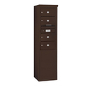 Salsbury Industries 3910S-04ZFP Free-Standing 4C Horizontal Mailbox Unit - 10 Door High Unit (65-3/4 Inches) - Single Column - 4 MB2 Doors - Bronze - Front Loading - Private Access