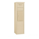 Salsbury Industries 3910S-1CSF Free-Standing 4C Horizontal Collection Box (Includes 3710S-1CSF and 3910S-SAN Enclosure) - 10 Door High Unit (65-3/4 Inches) - Single Column - Sandstone - Front Access