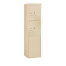 Salsbury Industries 3910S-2PSFU Free-Standing 4C Horizontal Mailbox Unit-10 Door High Unit (65-3/4 Inches)-Single Column-Stand-Alone Parcel Locker-2 PL5's-Sandstone-Front Loading-USPS Access