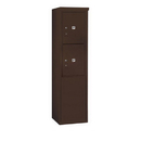 Salsbury Industries 3910S-2PZFP Free-Standing 4C Horizontal Mailbox Unit - 10 Door High Unit (65-3/4 Inches) - Single Column - 2 PL5's - Bronze - Front Loading - Private Access