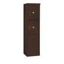 Salsbury Industries 3910S-2PZFU Free-Standing 4C Horizontal Mailbox Unit-10 Door High Unit (65-3/4 Inches)-Single Column-Stand-Alone Parcel Locker-2 PL5's-Bronze-Front Loading-USPS Access