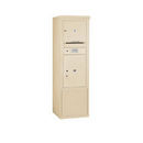 Salsbury Industries 3910SX-01SFP Free-Standing 4C Horizontal Mailbox ADA Height Compliant Unit-10 Door High Unit (52-3/4 Inches)-Single Column-1 MB3 Door / 1 PL5-Sandstone-Front Loading-Private A