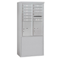 Salsbury Industries 3911D-10AFP Free-Standing 4C Horizontal Mailbox Unit - 11 Door High Unit (69-1/4 Inches) - Double Column - 10 MB1 Doors / 2 PL5's - Aluminum - Front Loading - Private Access