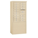 Salsbury Industries 3911D-19SFP Free-Standing 4C Horizontal Mailbox Unit - 11 Door High Unit (69-1/4 Inches) - Double Column - 19 MB1 Doors - Sandstone - Front Loading - Private Access
