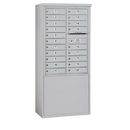 Salsbury Industries 3911D-20AFU Free-Standing 4C Horizontal Mailbox Unit - 11 Door High Unit (69-1/4 Inches) - Double Column - 20 MB1 Doors - Aluminum - Front Loading - USPS Access