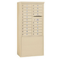Salsbury Industries 3911D-20SFP Free-Standing 4C Horizontal Mailbox Unit - 11 Door High Unit (69-1/4 Inches) - Double Column - 20 MB1 Doors - Sandstone - Front Loading - Private Access