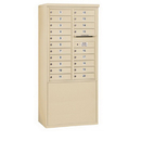 Salsbury Industries 3911D-20SFU Free-Standing 4C Horizontal Mailbox Unit - 11 Door High Unit (69-1/4 Inches) - Double Column - 20 MB1 Doors - Sandstone - Front Loading - USPS Access