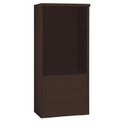 Salsbury Industries 3911D-BRZ Free-Standing Enclosure - for 3711 Double Column Unit - Bronze