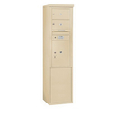 Salsbury Industries 3911S-02SFU Free-Standing 4C Horizontal Mailbox Unit - 11 Door High Unit (69-1/4 Inches) - Single Column - 2 MB2 Doors / 1 PL5 - Sandstone - Front Loading - USPS Access