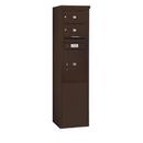 Salsbury Industries 3911S-02ZFU Free-Standing 4C Horizontal Mailbox Unit - 11 Door High Unit (69-1/4 Inches) - Single Column - 2 MB2 Doors / 1 PL5 - Bronze - Front Loading - USPS Access