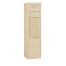 Salsbury Industries 3911S-1CSF Free-Standing 4C Horizontal Collection Box (Includes 3711S-1CSF and 3911S-SAN Enclosure) - 11 Door High Unit (69-1/4 Inches) - Single Column - Sandstone - Front Access