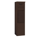 Salsbury Industries 3911S-1CZF Free-Standing 4C Horizontal Collection Box (Includes 3711S-1CZF and 3911S-BRZ Enclosure) - 11 Door High Unit (69-1/4 Inches) - Single Column - Bronze - Front Access