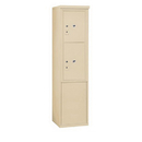 Salsbury Industries 3911S-2PSFP Free-Standing 4C Horizontal Mailbox Unit - 11 Door High Unit (69-1/4 Inches) - Single Column - Stand-Alone Parcel Locker - 1 PL5 and 1 PL6 - Sandstone - Front Loading