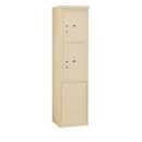 Salsbury Industries 3911S-2PSFU Free-Standing 4C Horizontal Mailbox Unit-11 Door High Unit (69-1/4 Inches)-Single Column-Stand-Alone Parcel Locker-1 PL5 and 1 PL6-Sandstone-Front Loading-USPS Access