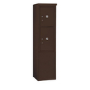 Salsbury Industries 3911S-2PZFP Free-Standing 4C Horizontal Mailbox Unit-11 Door High Unit (69-1/4 Inches)-Single Column-Stand-Alone Parcel Locker-1 PL5 and 1 PL6-Bronze-Front Loading-Pri