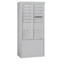 Salsbury Industries 3912D-10AFU Free-Standing 4C Horizontal Mailbox Unit - 12 Door High Unit (69-1/4 Inches) - Double Column - 10 MB1 Doors / 2 PL6's - Aluminum - Front Loading - USPS Access