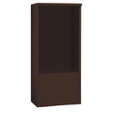 Salsbury Industries 3912D-BRZ Free-Standing Enclosure - for 3712 Double Column Unit - Bronze