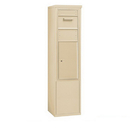 Salsbury Industries 3912S-1CSF Free-Standing 4C Horizontal Collection Box (Includes 3712S-1CSF and 3912S-SAN Enclosure) - 12 Door High Unit (69-1/4 Inches) - Single Column - Sandstone - Front Access