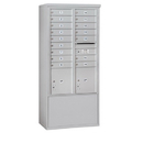 Salsbury Industries 3913D-16AFP Free-Standing 4C Horizontal Mailbox Unit - 13 Door High Unit (69-1/4 Inches) - Double Column - 16 MB1 Doors / 2 PL4's - Aluminum - Front Loading - Private Access