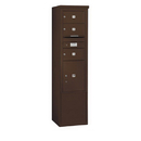 Salsbury Industries 3913S-03ZFU Free-Standing 4C Horizontal Mailbox Unit - 13 Door High Unit (69-1/4 Inches) - Single Column - 3 MB2 Doors / 1 PL5 - Bronze - Front Loading - USPS Access