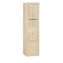 Salsbury Industries 3913S-06SFU Free-Standing 4C Horizontal Mailbox Unit - 13 Door High Unit (69-1/4 Inches) - Single Column - 6 MB1 Doors / 1 PL5 - Sandstone - Front Loading - USPS Access