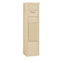 Salsbury Industries 3913S-1CSF Free-Standing 4C Horizontal Collection Box (Includes 3713S-1CSF and 3913S-SAN Enclosure) - 13 Door High Unit (69-1/4 Inches) - Single Column - Sandstone - Front Access