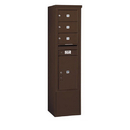 Salsbury Industries 3914S-03ZFU Free-Standing 4C Horizontal Mailbox Unit - 14 Door High Unit (69-1/4 Inches) - Single Column - 3 MB2 Doors / 1 PL6 - Bronze - Front Loading - USPS Access