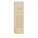 Salsbury Industries 3914S-1CSF Free-Standing 4C Horizontal Collection Box (Includes 3714S-1CSF and 3914S-SAN Enclosure) - 14 Door High Unit (69-1/4 Inches) - Single Column - Sandstone - Front Access