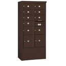 Salsbury Industries 3916D-09ZFU Free-Standing 4C Horizontal Mailbox Unit-Maximum Height Unit (72 Inches)-Double Column-7 MB2 Doors / 2 MB3 Doors / 2 PL4.5's-Bronze-Front Loading-USPS Access