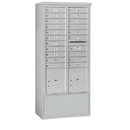 Salsbury Industries 3916D-19AFU Free-Standing 4C Horizontal Mailbox Unit - Maximum Height Unit (72 Inches) - Double Column - 19 MB1 Doors / 2 PL4.5's - Aluminum - Front Loading - USPS Access