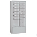 Salsbury Industries 3916D-20AFU Free-Standing 4C Horizontal Mailbox Unit - Maximum Height Unit (72 Inches) - Double Column - 20 MB1 Doors / 2 PL4.5's - Aluminum - Front Loading - USPS Access