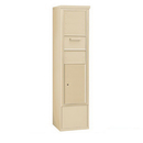 Salsbury Industries 3916S-1CSF Free-Standing 4C Horizontal Collection Box (Includes 3716S-1CSF and 3916S-SAN Enclosure) - Maximum Height Unit (72 Inches) - Single Column - Sandstone - Front Access