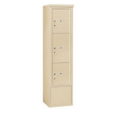 Salsbury Industries 3916S-3PSFU Free-Standing 4C Horizontal Mailbox Unit-Maximum Height Unit(72 Inches)-Single Column-Stand-Alone Parcel Locker-Sandstone-Front Loading-USPS Access