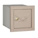 Salsbury Industries 4140E-BGE Cast Aluminum Column Mailbox - Non-Locking - Eagle Door - Beige