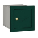 Salsbury Industries 4140E-GRN Cast Aluminum Column Mailbox - Non-Locking - Eagle Door - Green