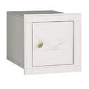 Salsbury Industries 4140E-WHT Cast Aluminum Column Mailbox - Non-Locking - Eagle Door - White