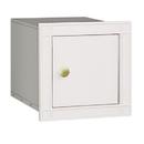Salsbury Industries 4140P-WHT Cast Aluminum Column Mailbox - Non-Locking - Plain Door - White