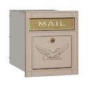 Salsbury Industries 4145E-BGE Cast Aluminum Column Mailbox - Locking - Eagle Door - Beige
