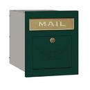 Salsbury Industries 4145E-GRN Cast Aluminum Column Mailbox - Locking - Eagle Door - Green