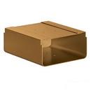 Salsbury Industries 4315D-BRS Newspaper Holder - for Designer Roadside Mailbox - Brass